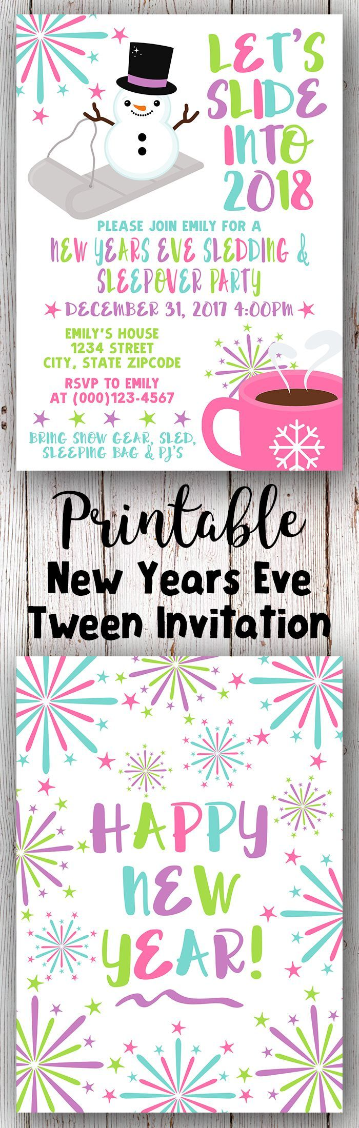 New Years Eve Party Invitation, New Years Eve Invitation