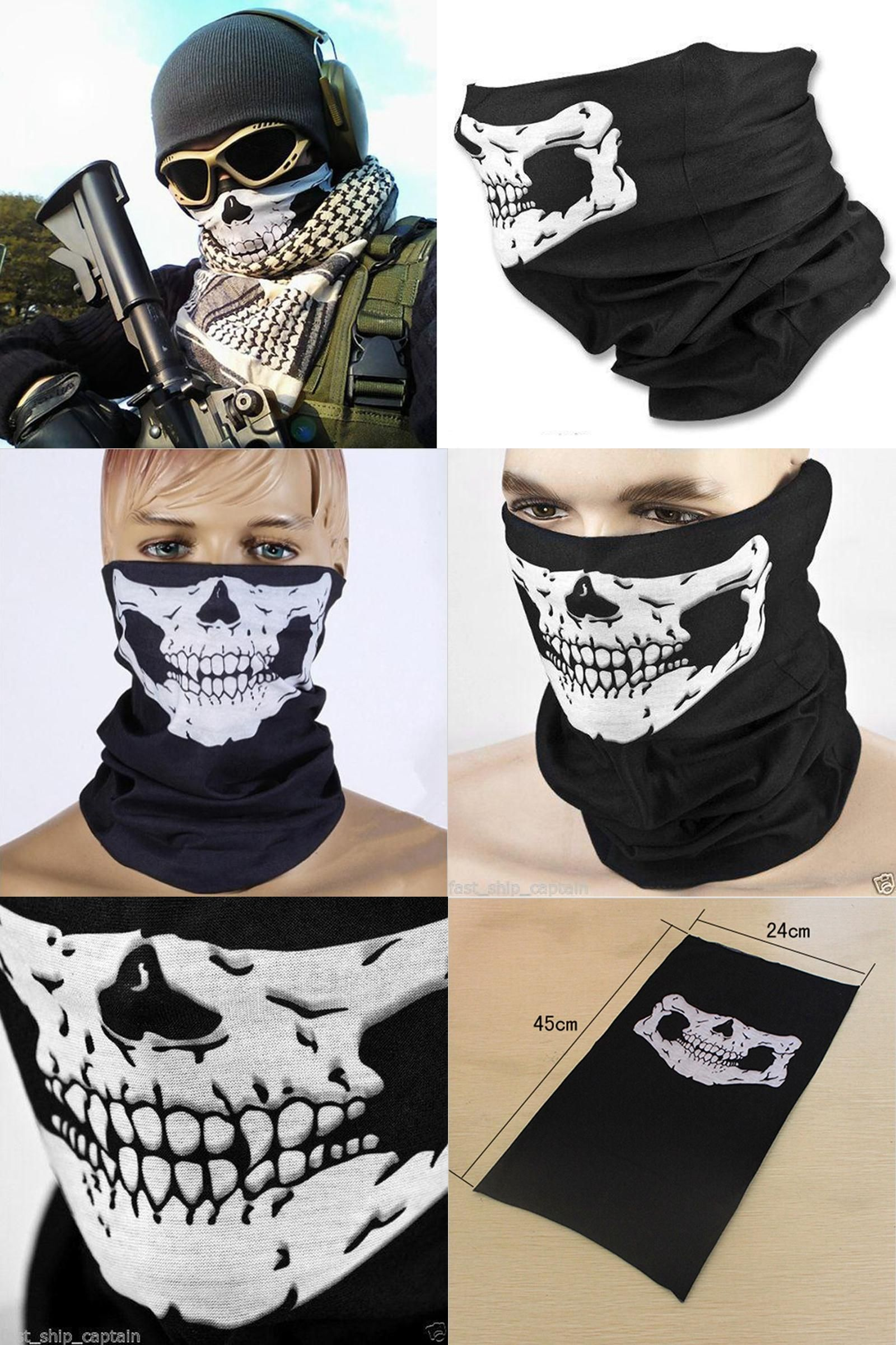 Visit to Buy] Newest Motorcycle Cycling Skull Ghost Face Windproof ...
