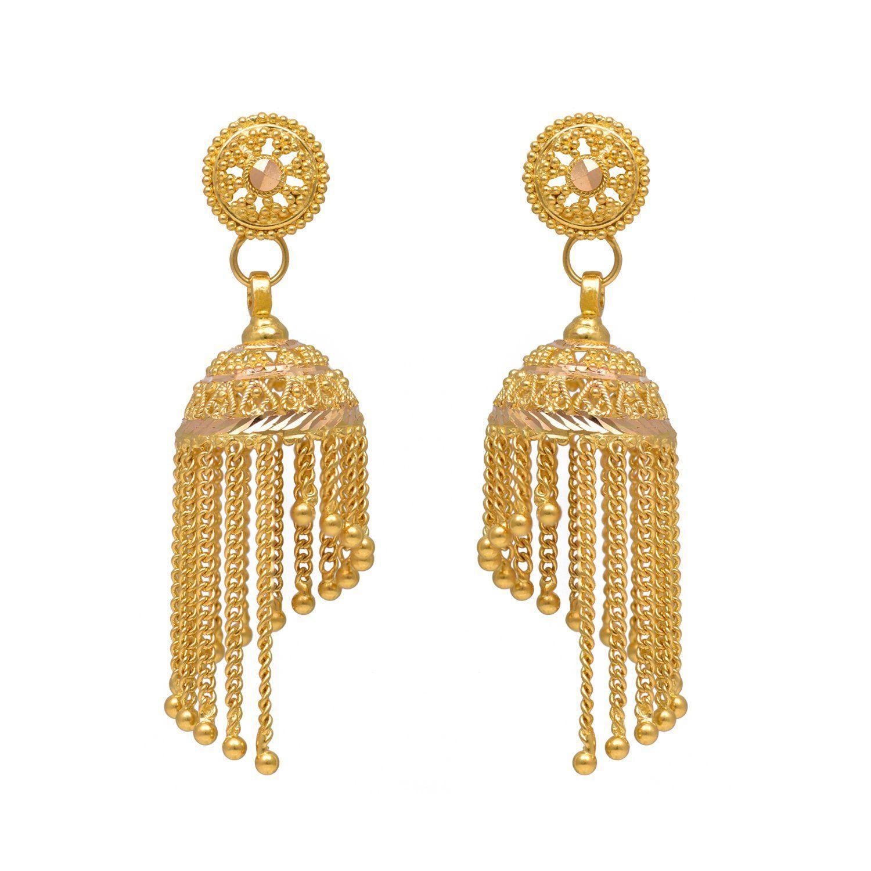 Buy Joyalukkas 22k Yellow Gold Jhumki Earrings Online At Low Prices In India Amazon Jewellery Store Amazon I Jhumki Earrings Online Earrings Amazon Jewelry