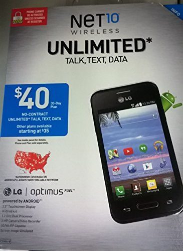 LG L34 Optimus Fuel Prepaid Phone (Net10) [Wireless