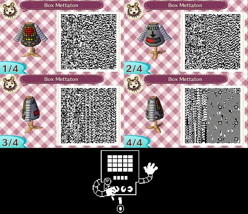 Mettaton From Undertale Qr Codes For Animal Crossing New Leaf
