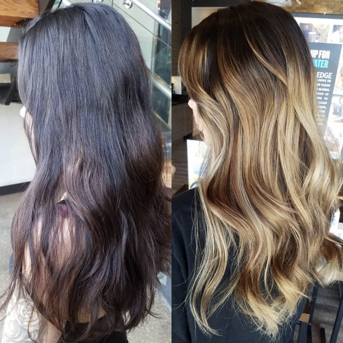 Layers Of Previous Hair Color Including Black Box Dye To A Soft Balayage By Amanda Balayage Hair Hair Hair Color Balayage