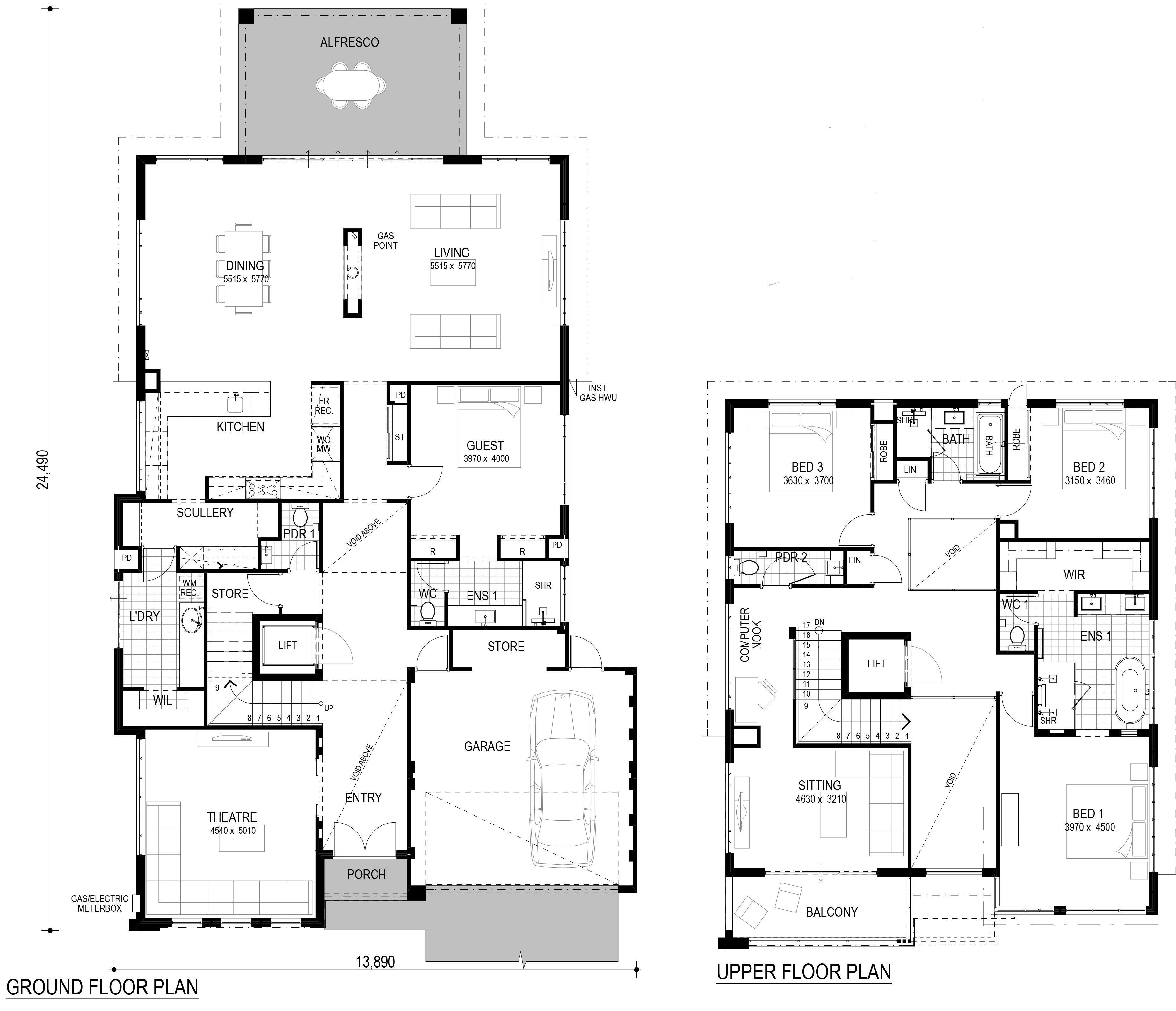 Two Storey Display Homes Perth The Paragon Perceptions Two Storey House Plans My House Plans Double Storey House Plans