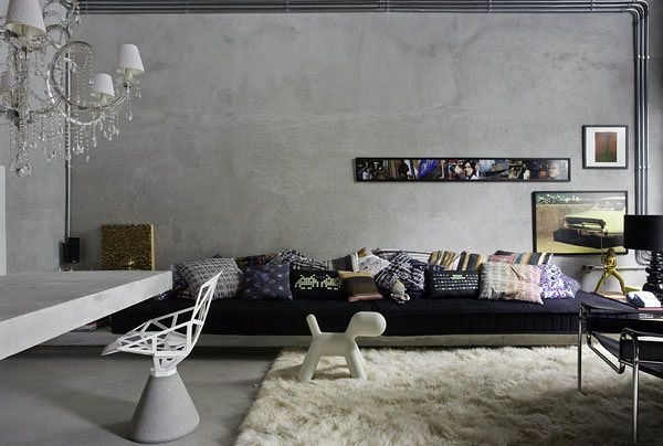Efeito concreto ou cimento queimado parede guarulhos for Pintura decorativa efeito marmore