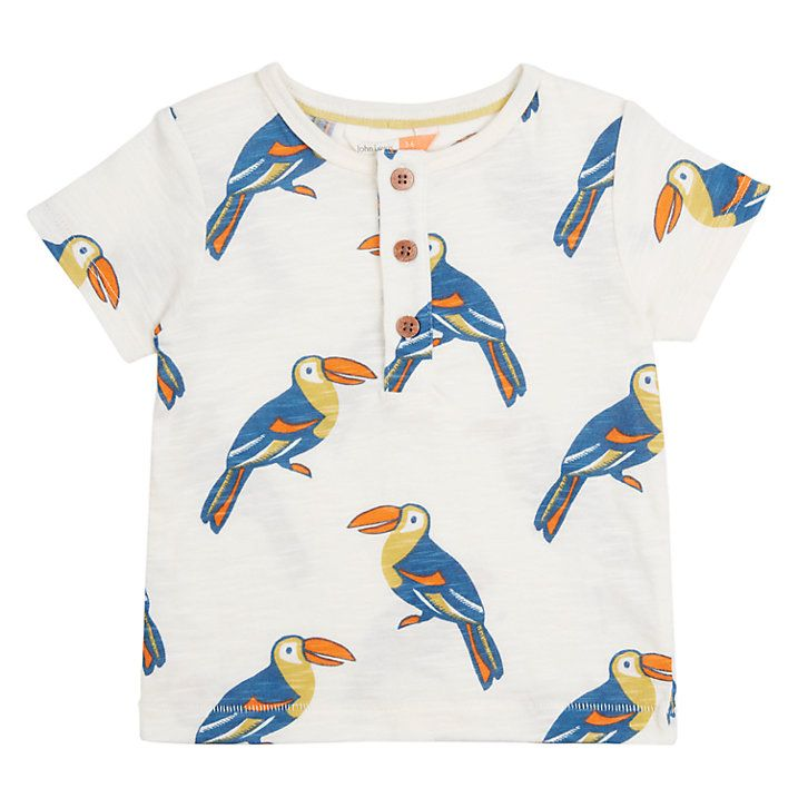 f0bfc18bc96 Buy John Lewis Baby GOTS Cotton Cuba Toucan T-Shirt