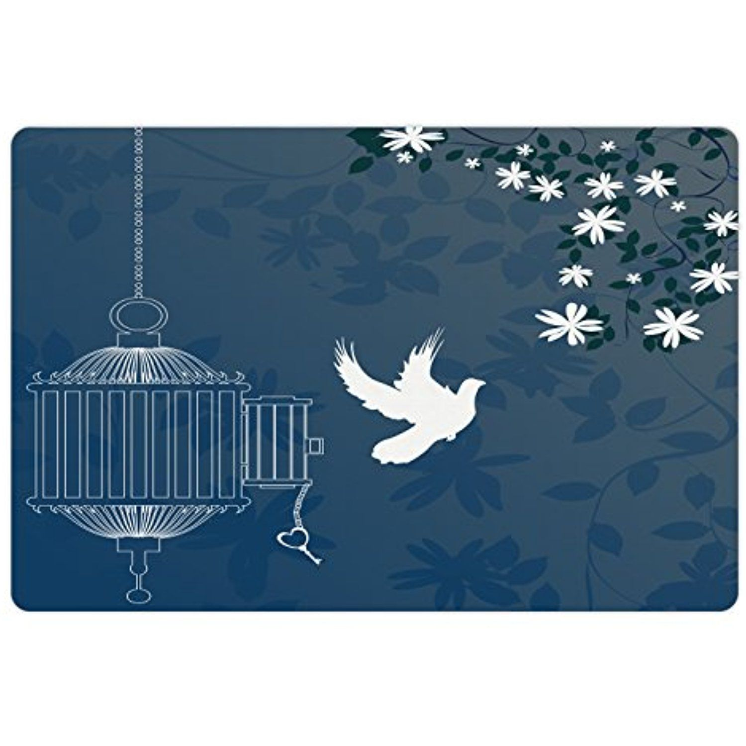 Romantic Pet Mats for Food and Water by Lunarable, French Style Love ...