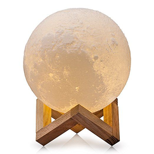 Cpla Lighting Night Light Led 3d Printing Moon Lamp Warm And Cool White Dimmable Touch Control Brightness Wit Moon Light Lamp Night Light Lamp Led Night Light
