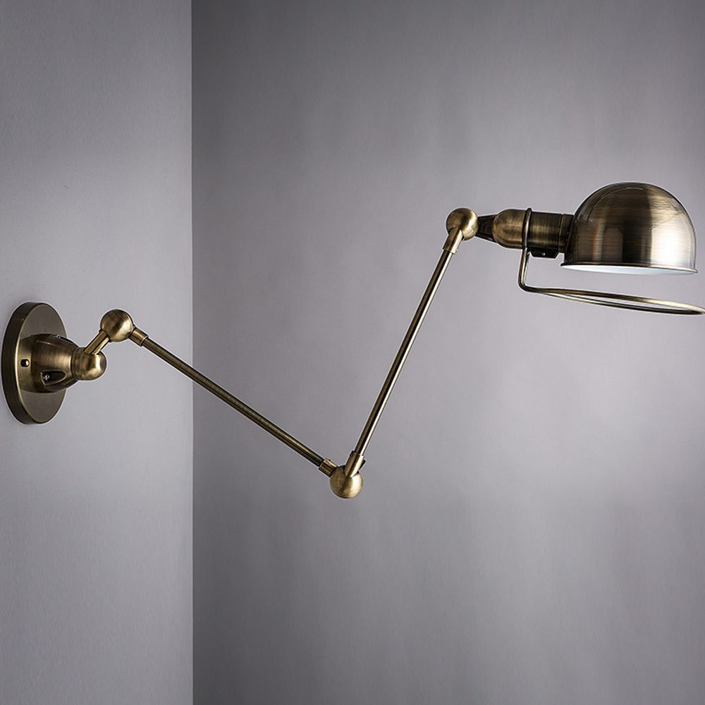 Industrial Swing Arm Lighting Find More Wall Lamps Information About Black Bronze Loft