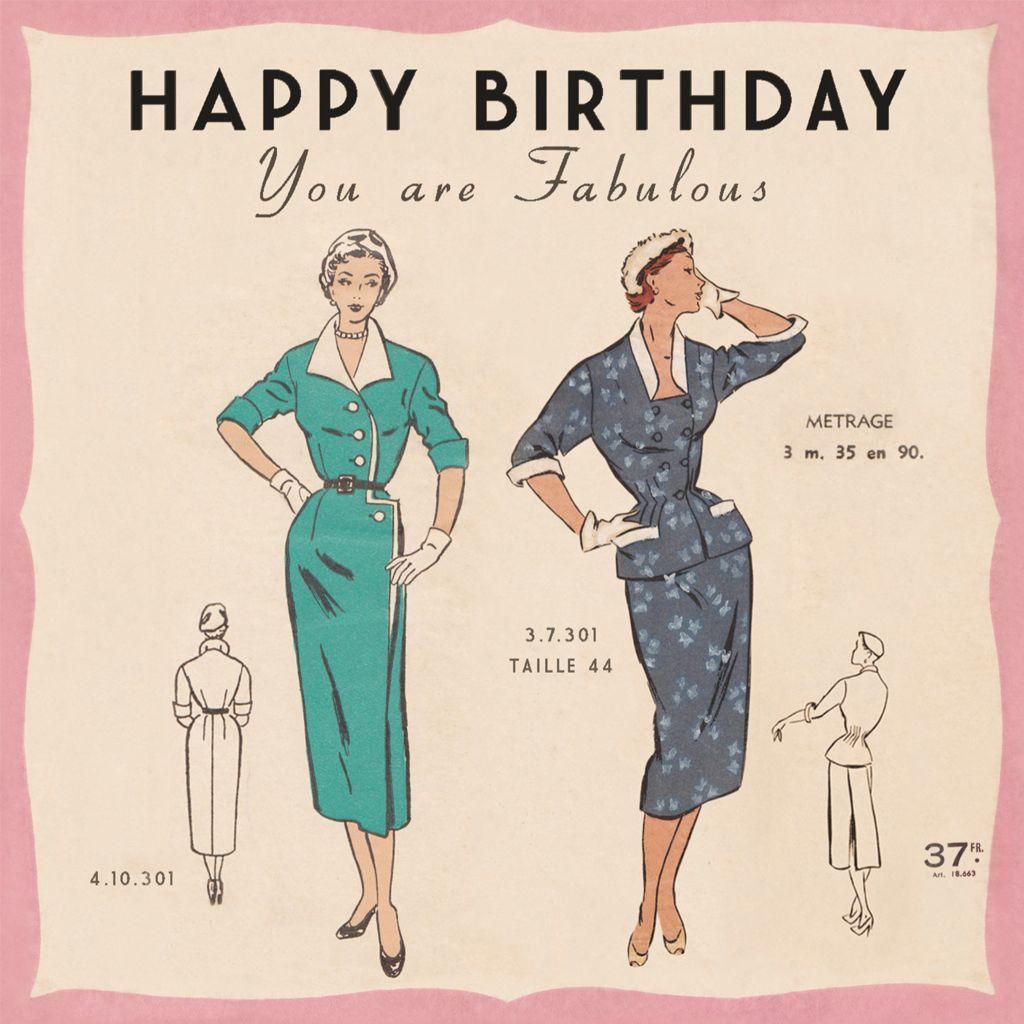 Image Vintage Dress Jpg 1024 1024 Verjaardagskaarten Gefeliciteerd Verjaardag
