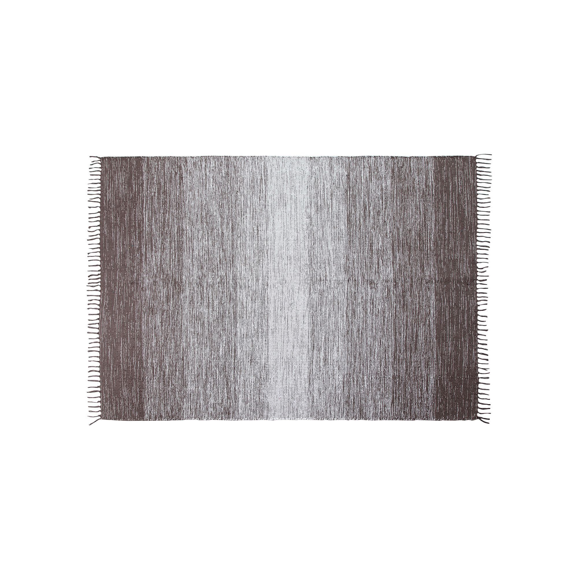 Chesapeake Cotton Ombre Striped Rug, Med Grey