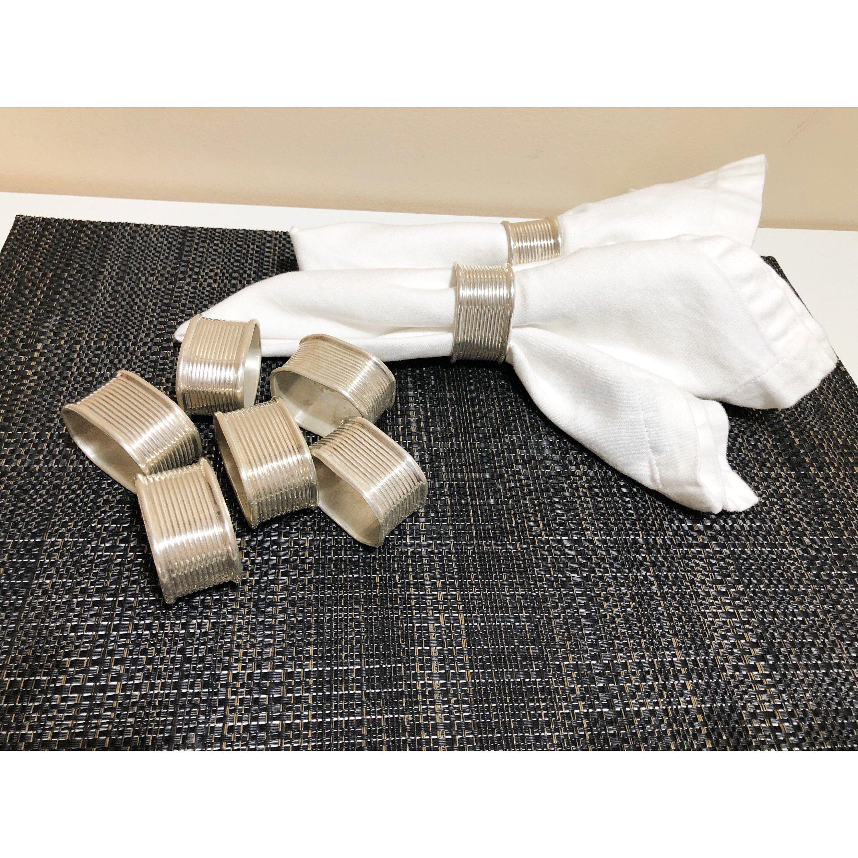 8 Silver Plated Napkin Rings, Classic Cloth Napkin Holders, Formal Classic Table Setting #clothnapkins