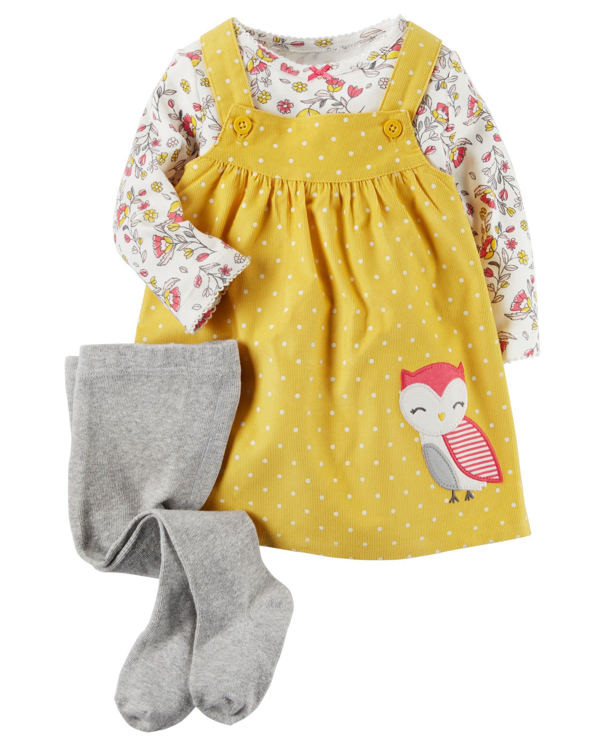 8e3b50fc2 Baby Girl 3-Piece Tee   Jumper Set