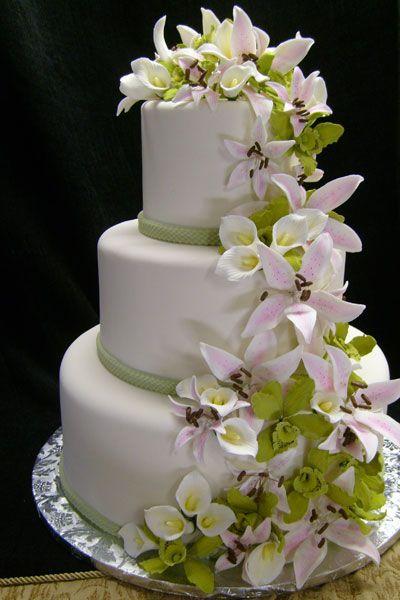 Wedding Cakes Bay Area San Francisco Wedding Cake Napa Valley Ca Orchid Wedding Cake Calla Lily Wedding Cake Wedding Cake Prices