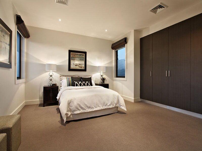 Cute Bedroom With Brown Carpet
