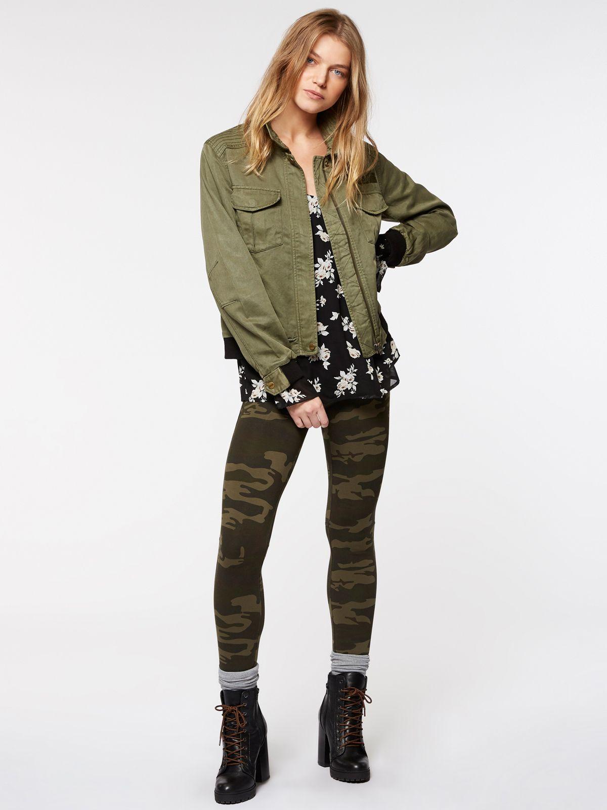 Pin by Anna Weir on Army Green Khaki Utility Jacket