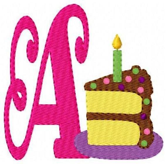 Happy Birthday Machine Embroidery Monogram Font Design Set // Joyful Stitches