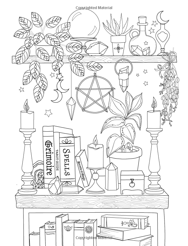 Coloring Book Page In 2021 Witch Coloring Pages Coloring Books Detailed Coloring Pages