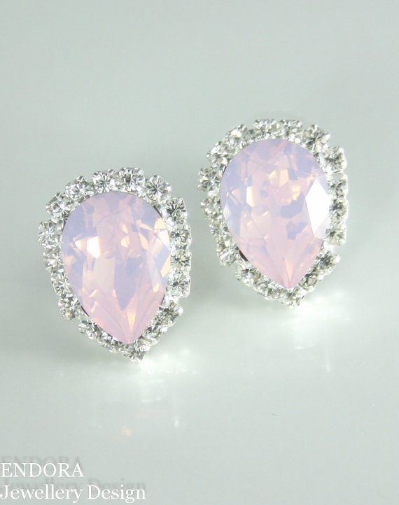 Hey, I found this really awesome Etsy listing at https://www.etsy.com/listing/193254829/pink-opal-earrings-crystal-earrings