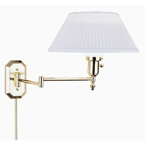 House Of Troy Ws 704 One Light Wall Swing Arm Lamp In Polished Brass Traditional Bellacor Swing Arm Wall Sconce Sconces Wall Sconces