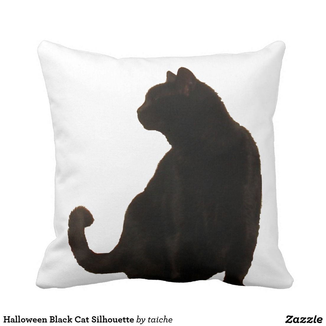 halloween black cat silhouette pillow - Black Cat Silhouette Halloween
