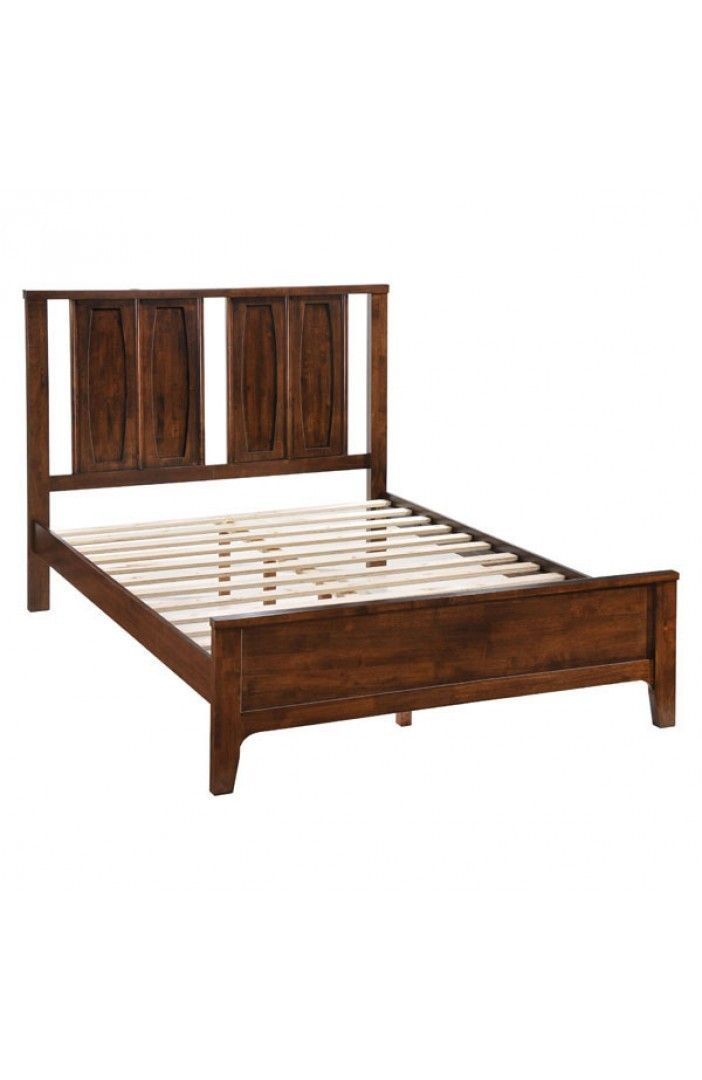 Portland Queen Bed Walnut 800301 Dimensions Stylish And Retro
