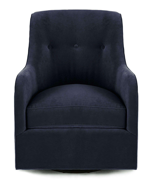 Cali st clair navy velvet swivel chair swivel chair