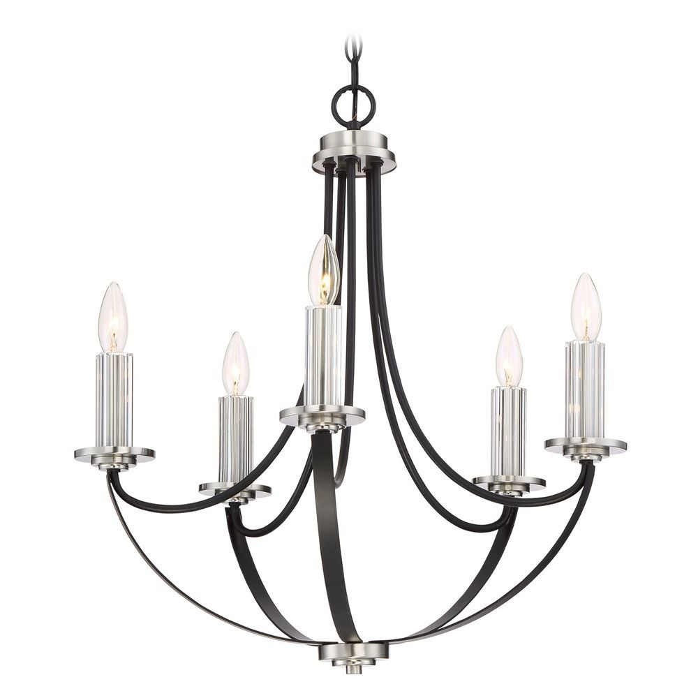 Quoizel Lighting Alana Mystic Black Chandelier Black Chandelier