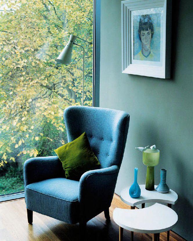 7x inspiratie voor groen en blauw in je interieur | Armchairs ...