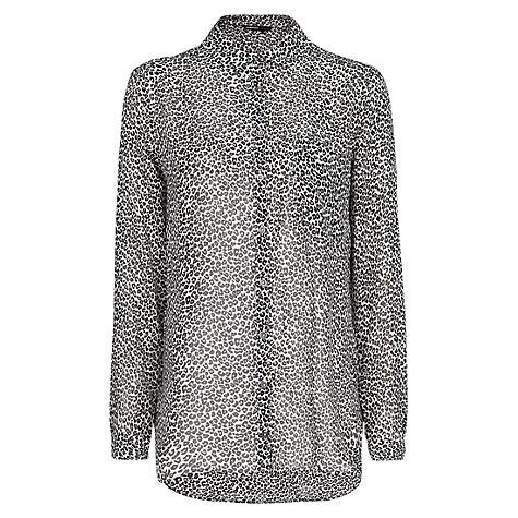 Leopard Print Shirt, Black