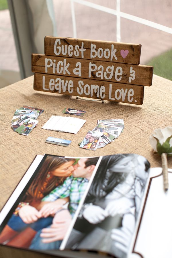 Wedding Guest Book Ideas Signed On Engagement Photo Al