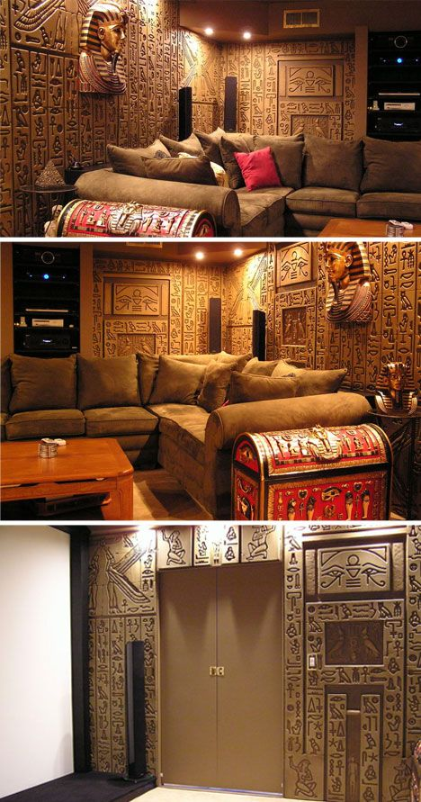 Egyptian themed home theater and other such things home for Egyptian themed bedroom ideas