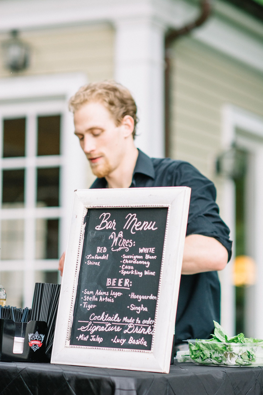 Bar Menu Bbq catering, Bar menu, Bbq wedding
