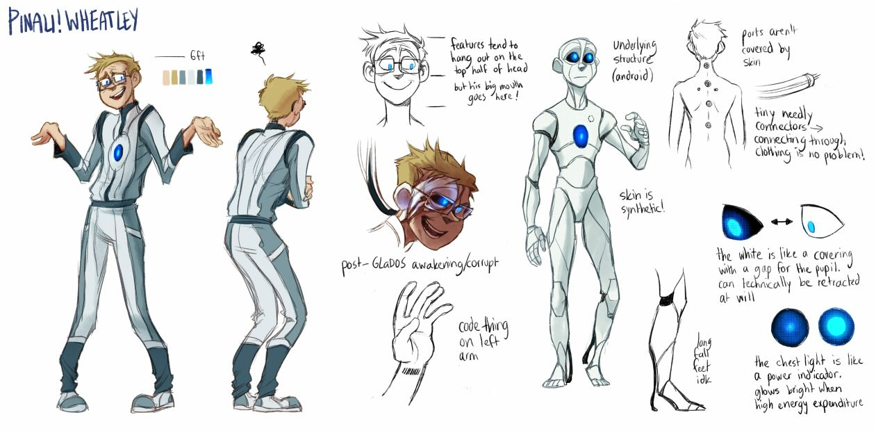 Chell Wheatley And Glados Human Google Search Arte