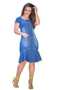 07ec0f6c0 modelo cabelo castanho paola santana vestido jeans raje | Raje Jeans ...