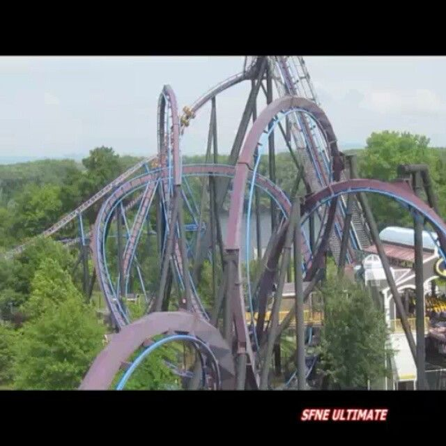 Batman The Dark Knight At Six Flags New England Opened 2002