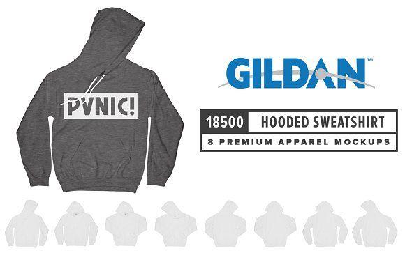 Download Gildan 18500 Hooded Sweatshirt Photoshop Mockup Hooded Sweatshirts Clothing Mockup