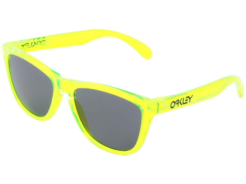 Oakley Frogskins Sunglasses | Acid Green Frame/Grey Lens