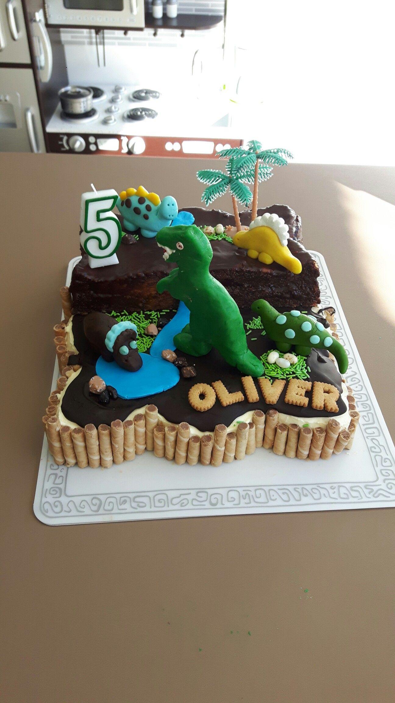 Dinosaurier Torte 5 Geburtstag Geburtstagskuchen Kuchen Cake