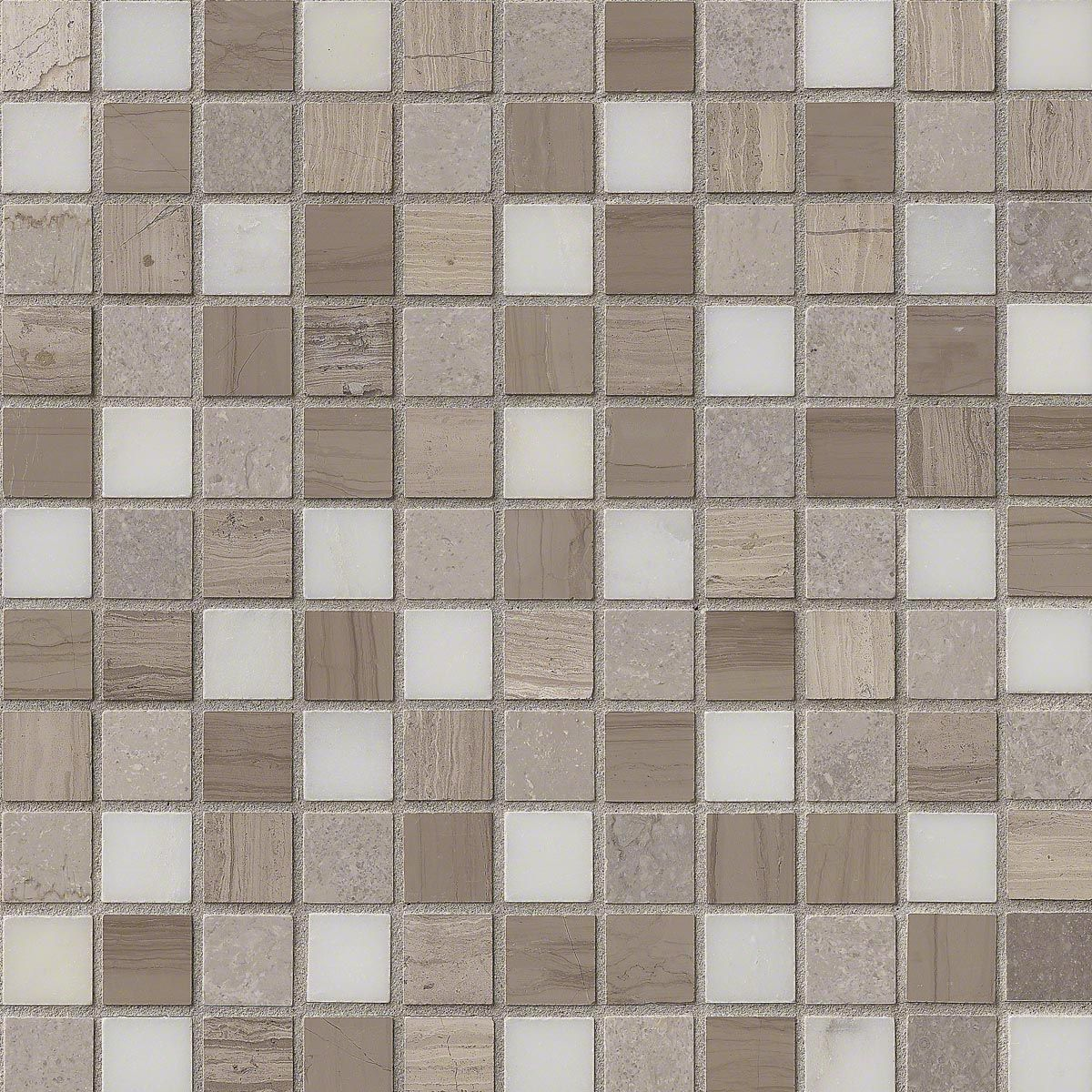 Alya tile 1x1arctic white tundra gray mix honed marble mosaic tile this beautiful arctic storm mosaic sheet marble tile is used in flooring countertops and backsplash doublecrazyfo Gallery