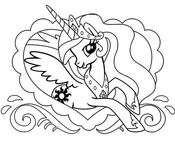 Princess Celestia In Love Frame My Little Pony Coloring Page Ausmalbilder Ausmalen Bilder