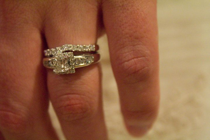 Wedding Rings Princess Cut On Finger