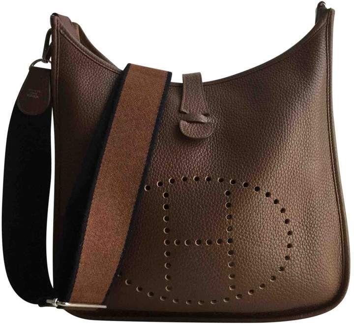 3da18e8b433d Hermes Evelyne leather handbag