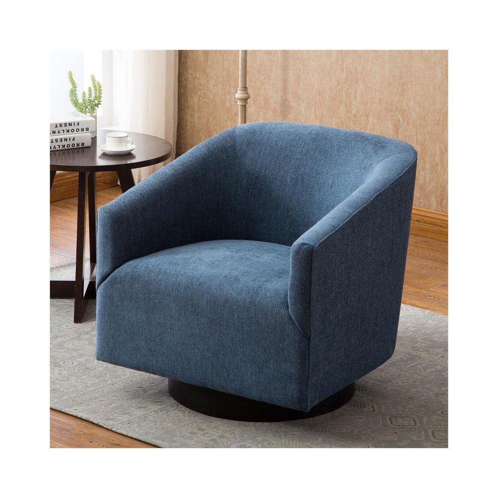 Surprising Geneva Cadet Blue Wood Base Swivel Chair In Blue Comfort Onthecornerstone Fun Painted Chair Ideas Images Onthecornerstoneorg