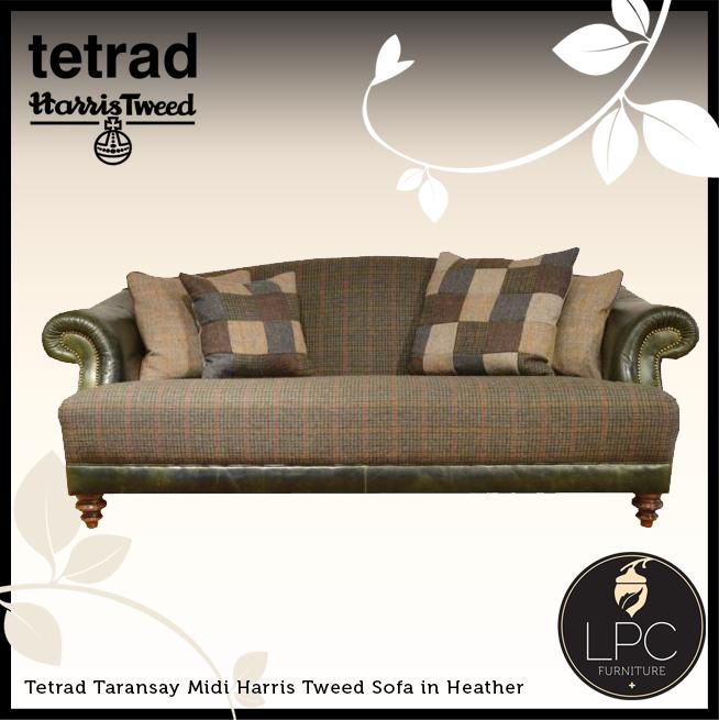 Tetrad Taransay Midi Harris Tweed Sofa In Heather Www Lpcfurniture
