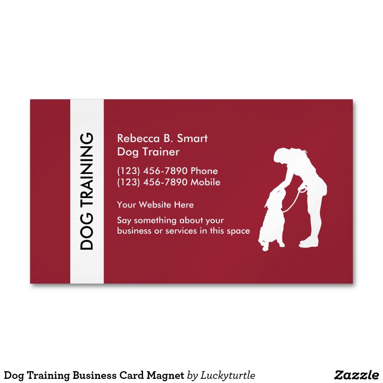 Dog Training Business Card Magnet Magnetic Business Cards | Branding ...