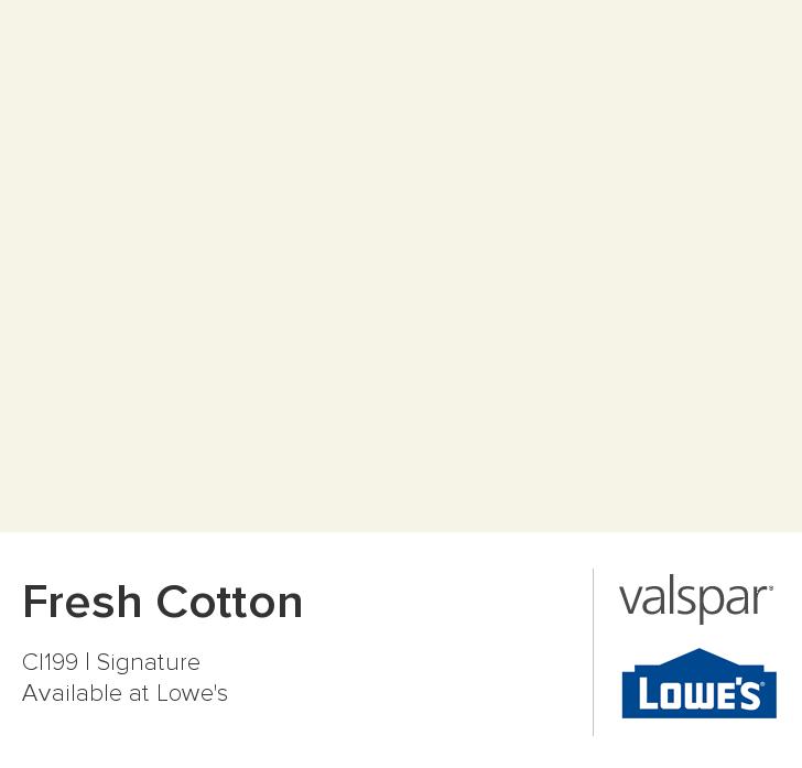 Fresh Cotton From Valspar