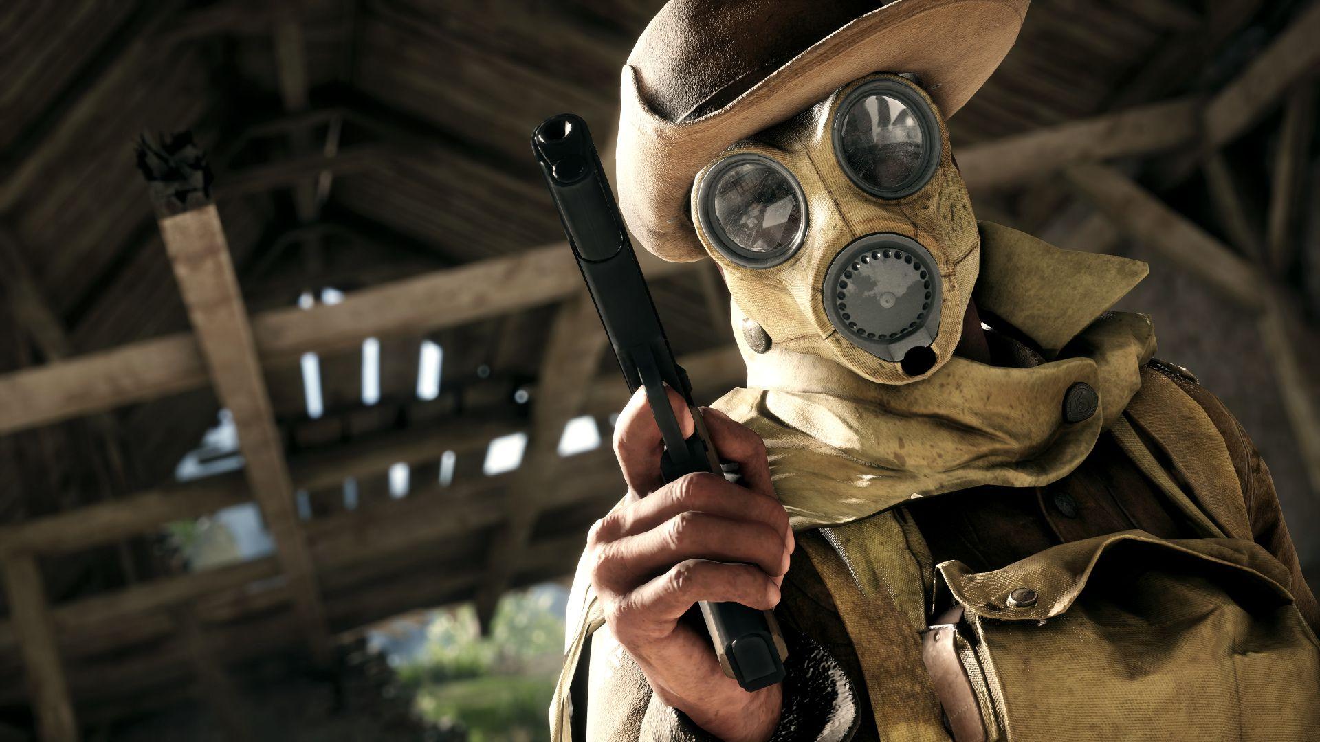 achat original meilleur prix Style classique Jeux Vidéo Battlefield 1 Masque à Gaz Fond d'écran ...