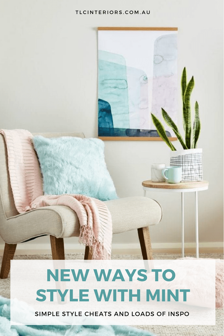 17d43c958c lorraine lea mint cushion on armchair with blush pink decor mint decorating  ideas