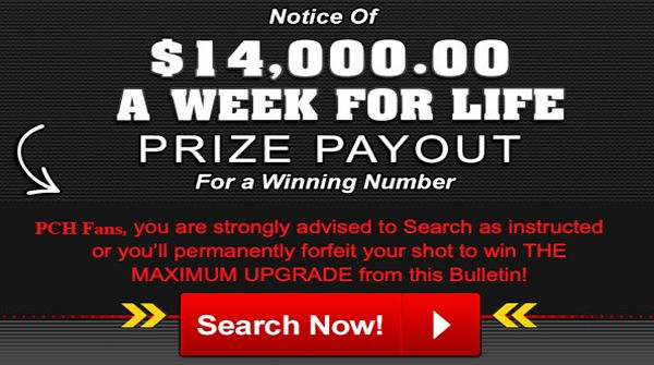 PCH $7,000 a Week For Life Sweepstakes | $7K wk for life doubled to