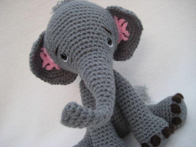 Amigurumi Patterns Elephant : Crochet pattern elephant amigurumi crochet stuffed animals